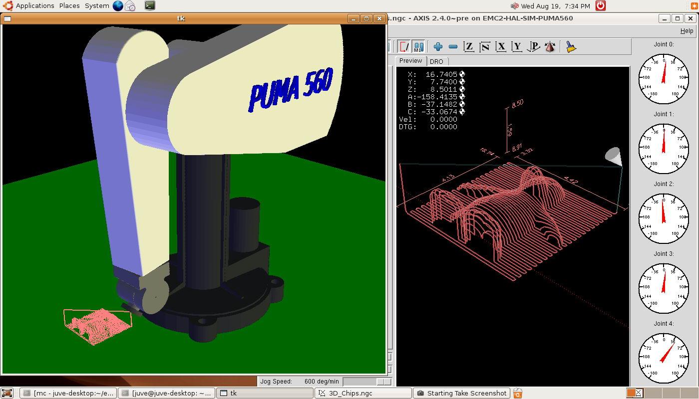 EMC2 Machine modeling / New simulation - robot arm kins